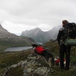 Backpacking on the rugged island of Senja was a wet experience.