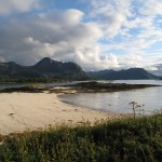 A  coral beach North of the Arctic Circle, in Norway.