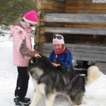 Leia greeting girl scouts in Lapland.