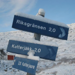 We started off in Katterjåkk, near Riksgränsen, and followed the trail to Abisko.