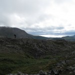 Starting the long descent toward Olaheimen.