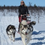 Sledding along the Arctic Trail, April 2012.
