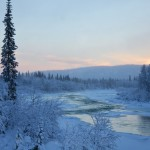 The Sitoälven River in early winter. Looks almost like a painting.