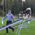 Agility training with Fredrik.