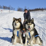 "Fredrik with the ""pups"" - yes we stil call them the pups, at 2 and 3.5 years respectively."